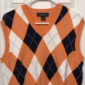 Brooks Brothers Medium Orange Diamond Sweater